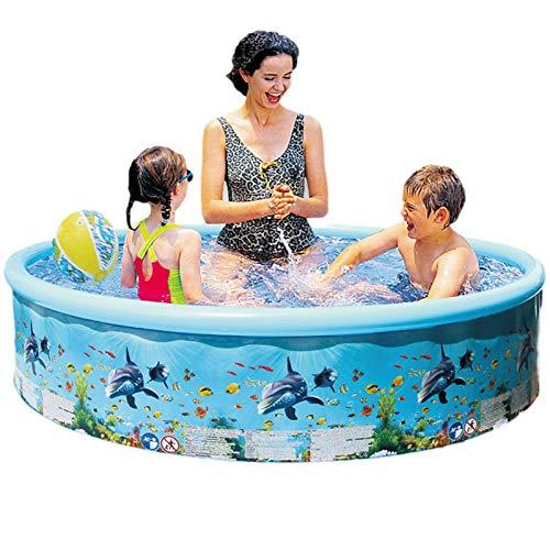 B/S Piscina hinchable gruesa redonda hinchable, bañera móvil de verano, juguete de agua para niños pequeños, niños, familia, sobretierra, jardín, exterior