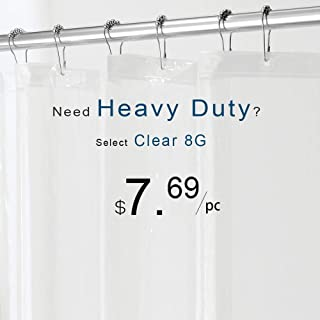 downluxe Shower Curtain Liner Clear - PEVA 3G Waterproof for Bathroom, 72x72 Inches, 1PC