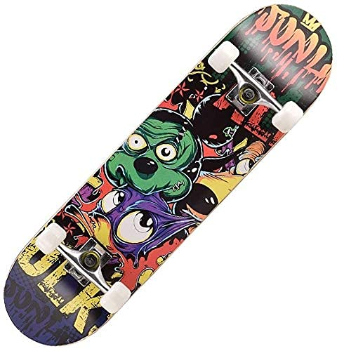 LFLLFLLFL Skateboard Monopatin Niños 7 Capas monopatín Skate Board Brush Street Cruiser para Adolescentes Principiante Chicas niños niños Adolescentes Adultos (Color : C)