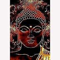 クロスステッチ 大人のためのクロスステッチキット 黄金の仏 40x50cm 11CT番号別刺繍キット手作りキットパンチ針刺繍DIY初心者向け手作りスターターキット