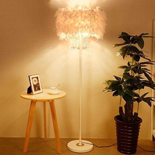 Ansongou Lámpara cristalina Creativa Pluma Lámpara de pie Moderna Sala de Estar Dormitorio de Noche lámpara Decorativa de la lámpara LED