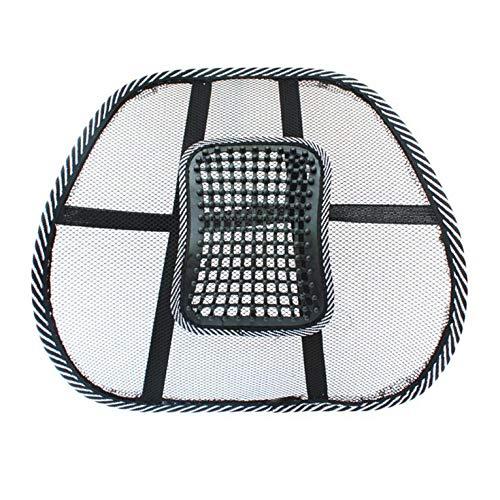 チェアマッサージバックランバーサポートメッシュベンチレーツクッションパッドカーオフィスシート車、オフィス、または自宅のシートに最適なリラックスマッサージサポート