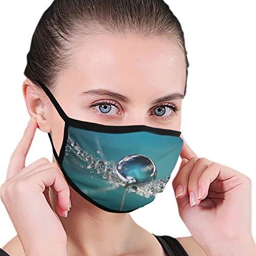 ZVEZVI L?wenzahn Pflanze Adult Black Border Mask, tragbarer Gesichtsschutz, Bandana, Elastic Edge, Sturmhaube