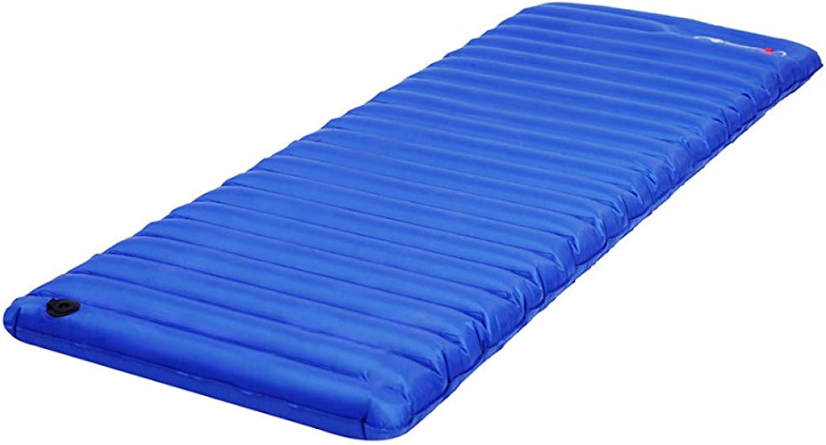 CLKSJOR Tapis de Camping Inflatable Air Mattress Lightweight Single Camping Mat Tent Sleeping Pad PVC Durable Airbed for Outdoor Camping Hiking
