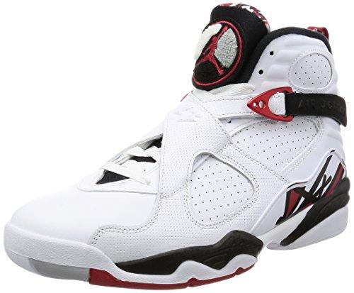 Nike Air Jordan Retro 10 - Zapatillas de fitness para hombre, color blanco/negro/rojo (blanco, negro y rojo), talla 44,5 EU, color Blanco, talla 47 EU