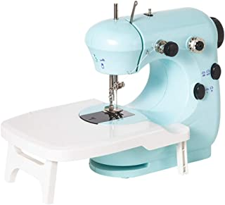 Portable Sewing Machine, Electric Overlock Sewing Machines Crafting Mending Machine, with Foot Pedal Working Lamp and Thre...