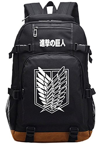 Gumstyle Attack on Titan Luminous School Bag College Backpack Bookbags Student Laptop Bags