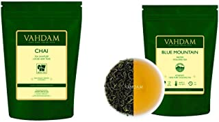 VAHDAM, Chai Tea Sampler (3.53oz) + Imperial Oolong Tea Leaves from the Blue Mountains (1.76oz), 100% Natural | Brew Hot, ...