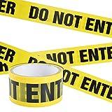 Irich Cinta de Seguridad Amarilla, 25M x 4,8CM DO Not Enter Cinta Advertencia Adhesiva de Peligro para Escaleras al Aire Libre Paredes Trabajo o Áreas de Peligro
