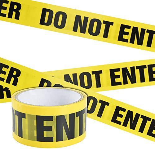 Irich Wasserdicht Warnband Selbstklebend, OPP Warnung Absperrband mit Mutige Schwarze Font für Arbeitsplatz Gefahrenzone (Gelb-Schwarz DO NOT Enter, 25m*4,8cm)