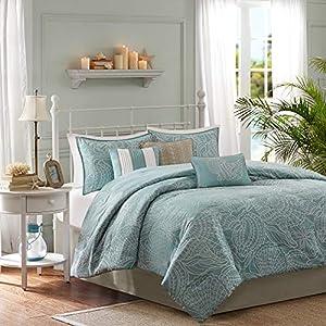 Madison Park Comforter Scenic Design All Season Hypoallergenic Down Alternative Set, Matching Bed Skirt, Decorative…