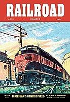 鉄道雑誌:ミシガンランバーパイク、1953ファインアートキャンバスプリント(50.8cm×76.2cm)