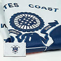 Image: S Coast Guard Flag | Heavy Duty and Double-Sided | Embroidered for Inside/Outside Use | UV Protected, Long Lasting Nylon USA Coast Guard | Brass Grommets for Easy Display | USCG Flag