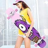 MNBV Patinetas, Longboard Complete Skateboard Cruiser, Patineta Profesional de Madera de Arce de 7 Capas para Principiantes, Adultos, Adolescentes, jóvenes niños