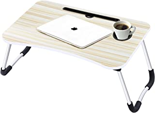 Suninhome Laptop Desk,Laptop Bed Tray Table Large Foldable Laptop Notebook Stand Desk With Ipad And Cup Holder Perfect For...