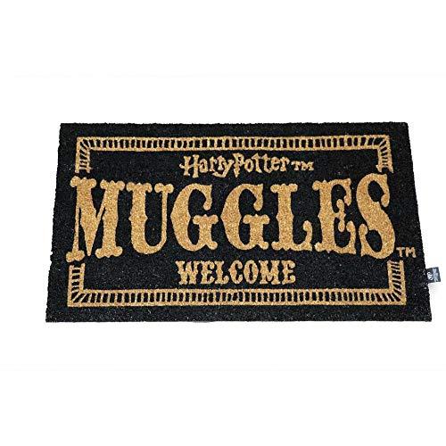 Harry Potter Zerbino Muggles Welcome Doormat ufficiale Merchandising Riferimento DD tessili per la casa, unisex, per adulti, multicolore, unico