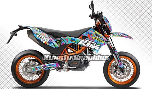 KUNGFU GRAPHICS(カンフー グラフィックス) デカールキット(ブルー)KTM 690 SMC R 2012 2013 2014 2015 2016 2017専用