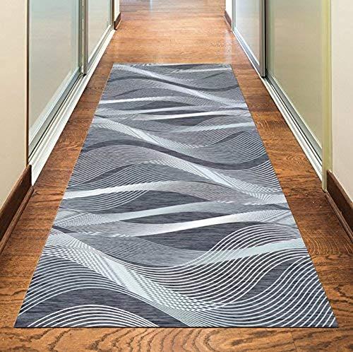 Korridor Teppich- Retro Flur Läufer Teppich, Breite 60cm / 80cm / 110cm / 120cm erhältlich, rutschfest, Länge Anpassbare (Size : 100×300cm)