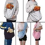 CUBY Carrier Sling Dog Small Dog Cat Sling Pet Sling Backpack Single Shoulder Pet Bag for Travel Dog Carrier Bag (Blue) 14