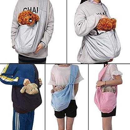 CUBY Carrier Sling Dog Small Dog Cat Sling Pet Sling Backpack Single Shoulder Pet Bag for Travel Dog Carrier Bag (Blue) 7