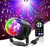 GVOO Luci Discoteca Musica Attivata con 7 Colori RGBY, Palla da Discoteca LED USB Alimenta...