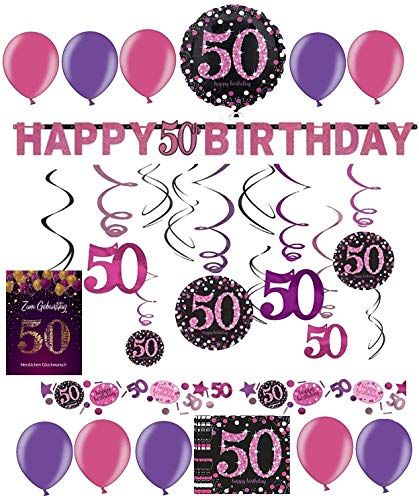 3 X Sacs Rose//Violet//Argent 18th Joyeux Anniversaire//Table Feuille Confettis 14 g Pack