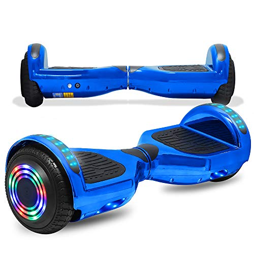 CHO POWER SPORTS Electric Hoverboard Safety Certified Hover Board Electric Self Balancing Scooter with Built in Speaker LED Lights Wheel