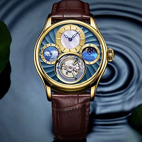 Liandd Real Tourbillon Reloj mecánico automático Hombres Relojes para Hombre Relojes de...