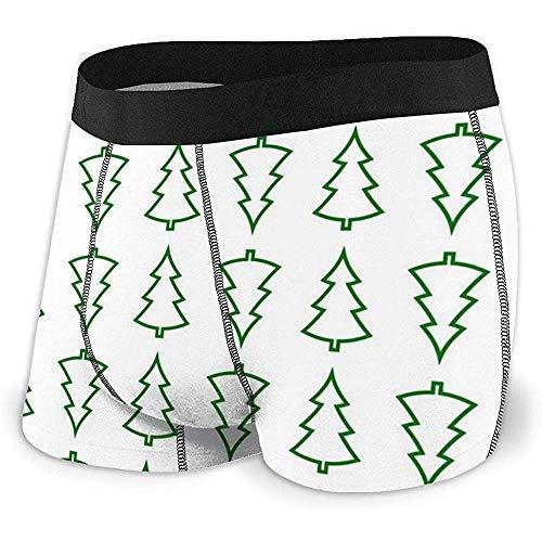 NA Männer Breathable Unterwäsche Weihnachtsbäume Wallpaper Komfortable Boxer Briefs
