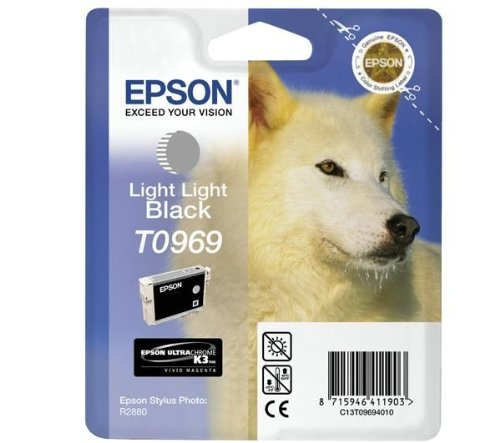 Epson Cartucho T0969 Gris Claro - Cartucho de Tinta para impresoras (Gris, Pigmento Negro, Inyección de Tinta) No