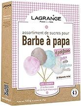 LAGRANGE Assortiment de 4 parfums de sucres pour barbes à papa 380000