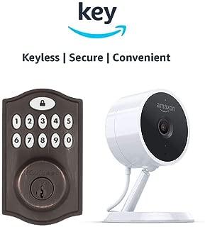 Kwikset SmartCode 914 Keypad Smart Lock + Amazon Cloud Cam   Key Smart Lock Kit (Venetian Bronze)