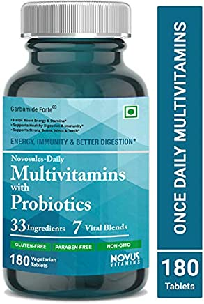 Carbamide Forte Multivitamin daily for Men and Women with Probiotics, antioxidants, Minerals- (180 Tablets)