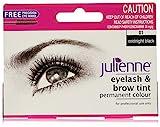 Julienne Eyelash and Eyebrow Permanent Midnight Black 01 Colour Tint 15ml