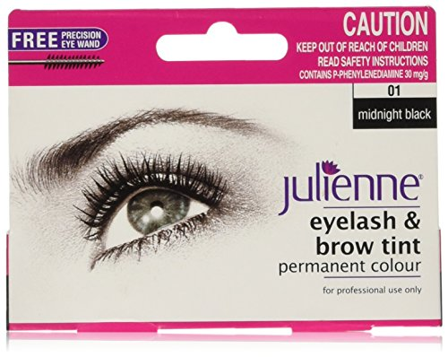 Julienne Eyelash and Eyebrow Permanent Midnight Black