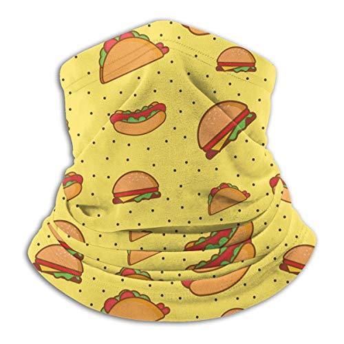 Lawenp food1 pattern bufanda de cara calentador de oídos para clima frío para hombres y mujeres