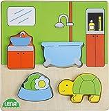 Lena- Rompecabezas de Madera para baño (4 Piezas) (SIMM Spielwaren 32143)