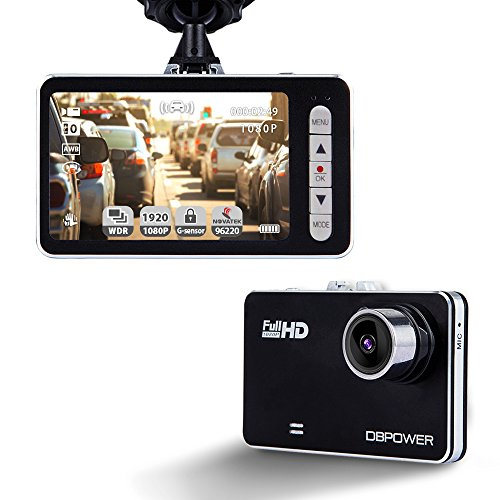 DBPOWER 2.7' Dash Cam, 120° Wide Angle 1080P Car On-dash Video Recorder G-sensor Vehicle Camera Camcorder with 4X Zoom Lens Motion Detection Support up to 32GB C10 Micro SD Card (Not Included)