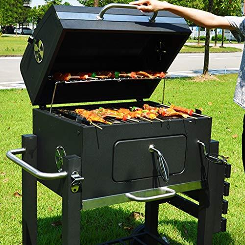 51CGeZ4KvnL - ChangDe - Weber Holzkohlegrills BBQ Grill - Verdicken Sie tragbare Grillhausgarten Holzkohle große kommerzielle rauchlose Grillauto im Freienvilla