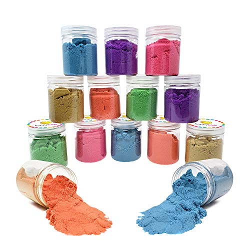 Happy Kids Magic Sand (12 Pack) - Fun, Squishy & Energetic Sand - Playful & Stress Relieving Party Favors!
