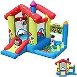 FGVDJ Parque Infantil Grande al Aire Libre para niños Tobogán Inflable para niños Cama de Rebote de Juguete para niños Juegos para el hogar Pequeño Castillo Travieso