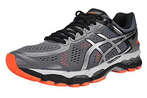ASICSGEL-Kayano 22-M - Gel-Kayano 22-m Herren, (Storm/Silver/Orange), 45 EU D(M)