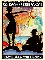 ERZAN大人のパズル木製パズル1000ハワイロサンゼルスカリフォルニアアメリカ合衆国アメリカ旅行広告大人子供パズル