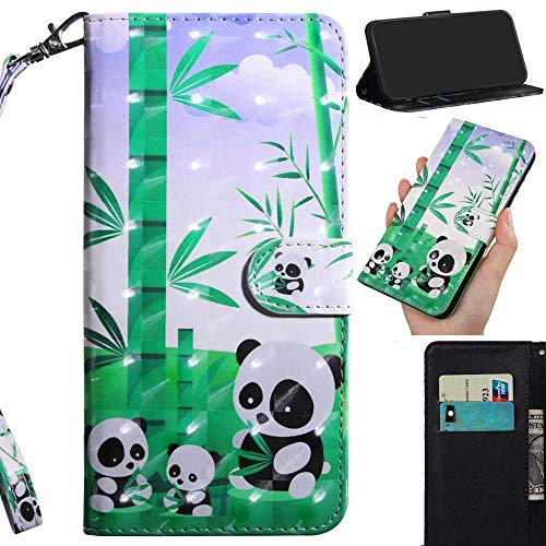 Robinsoni Custodia Compatibile con Nokia 6.1 2018 Case Portafoglio Nokia 6.1 2018 Cover Libro Case Pelle PU Antiurto Case Wallet Caso Taccuino Cover Libretto Cartone Animato Case Flip Cover,Panda