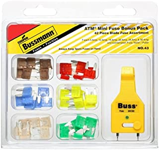 Bussmann 43 ATM Blade Fuse Bonus Kit with 42 ATM Fuses and Tester/Puller