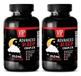 Sleep Device - Advanced Sleep Complex 952MG - Anxiety and Stress Relief - Promotes Rest - l theanine 400mg - 2 Bottles (120 Capsules)