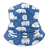 Sng9o Pasamontañas de forro polar con diseño de osos polares blancos