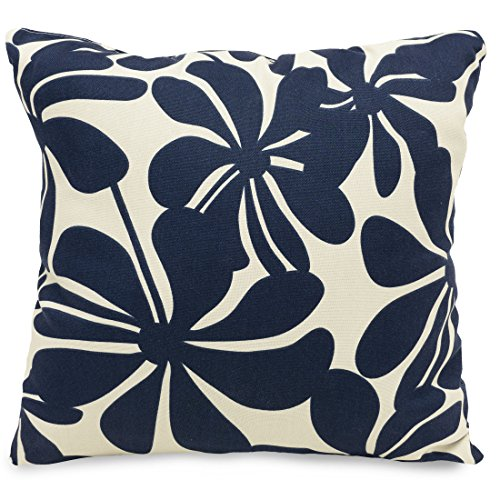 Majestic Home Goods Navy Blue Plantation Indoor / Outdoor Large Pillow 20
