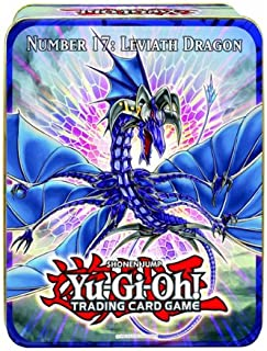 YuGiOh ZEXAL 2011 Wave 1 Holiday Tin Number 17 Leviath Dragon Includes 5 Packs + Pot of Duality, Stygian Street Patrol, Beast King Barbaros Dark Simorgh