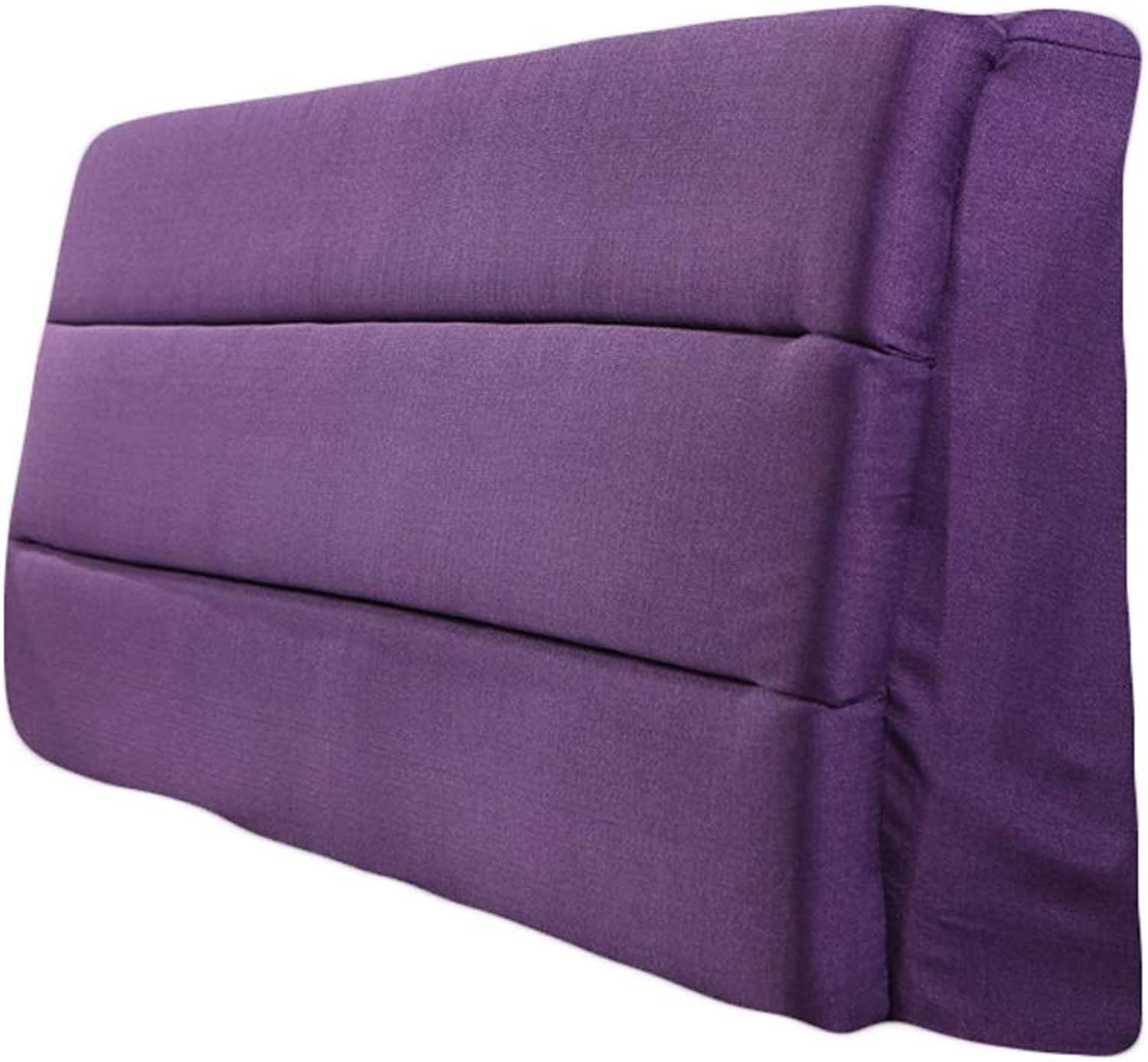 LPD-Bed backrest Cushion Backrest Cushion Bedside Fit The Bed with BedHead Relieve Fatigue Filling Sponge Washable, Purple, 4 Kinds Sizes (color   Purple, Size   70X50CM)